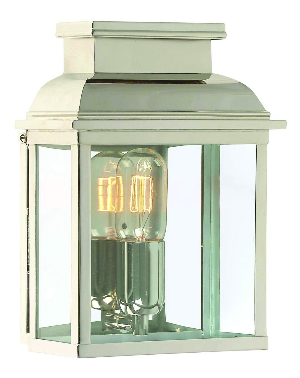 Old Bailey Wall Lantern Polished Nickel
