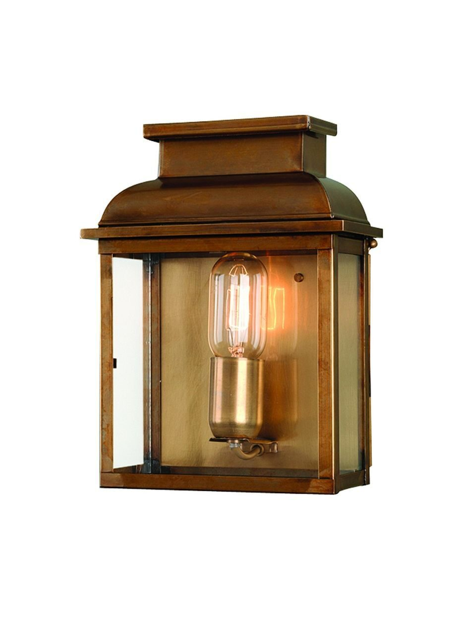 Old Bailey Wall Lantern Brass