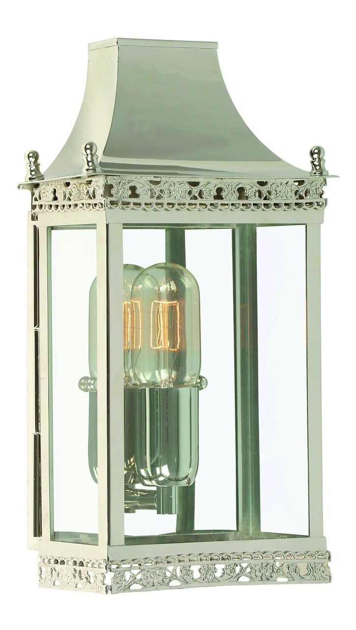 Regents Park Wall Lantern Polished Nickel
